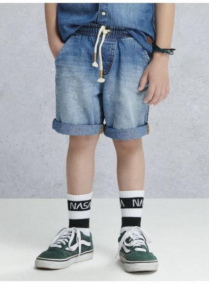 bermuda jeans com amarracao d0089 look