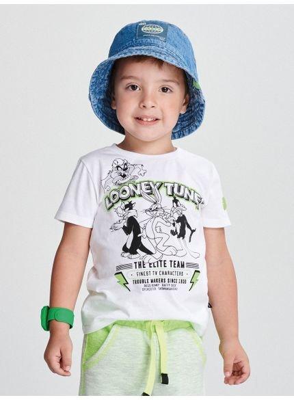 camiseta infantil looney tunes branca look