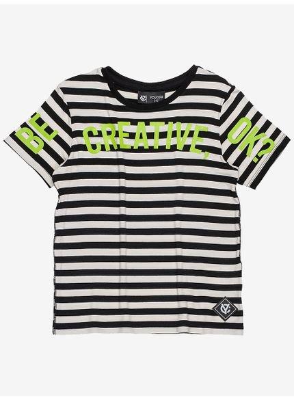 camisa infantil listrada manga curta still