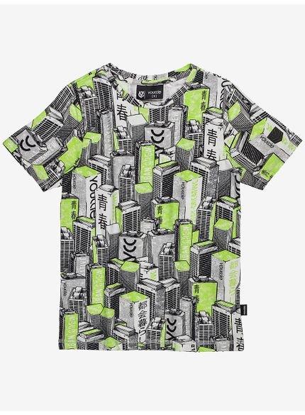 camiseta infantil estampada predios