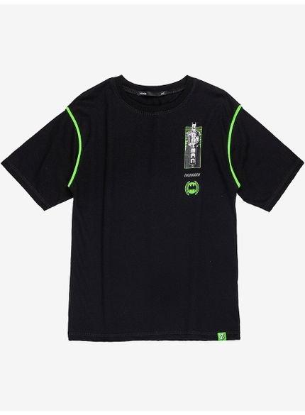 camiseta infantil estampa batman preta d0299