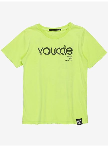 camiseta infantil verde neon youccie