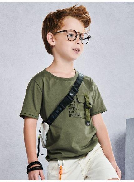 camiseta infantril verde militar youccie lookl