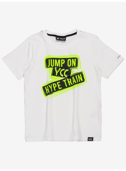 camiseta infantil off white jump on youccie