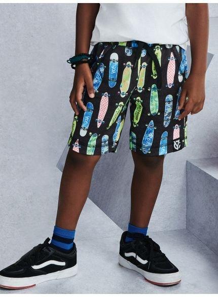 bermuda preta skate infantil menino youccie