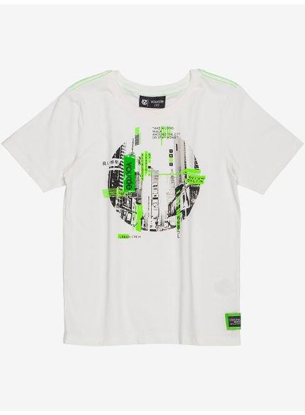 camiseta infantil menino urban off white