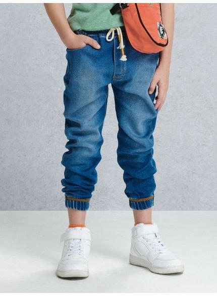 calca jogger jeans infantil masculino com cadarco youccie