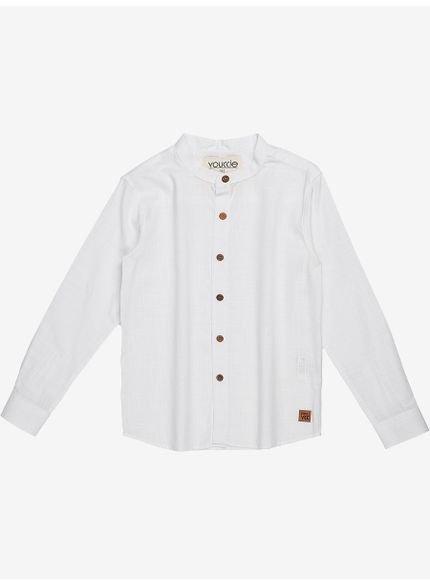 camisa branca infantil masculino manga longa
