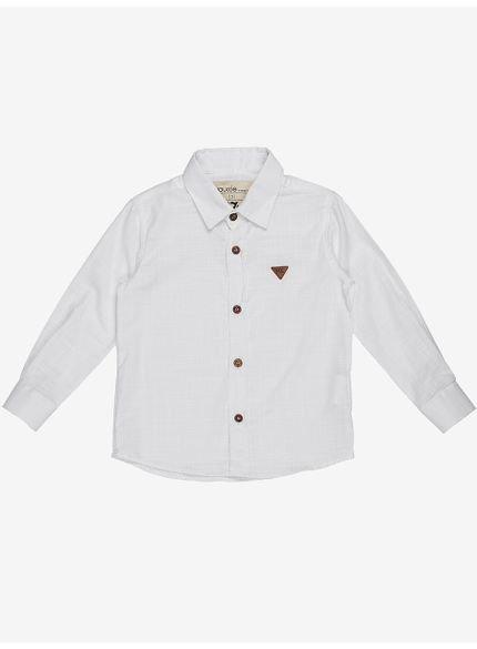 camisa manga longa branca infantil menino still