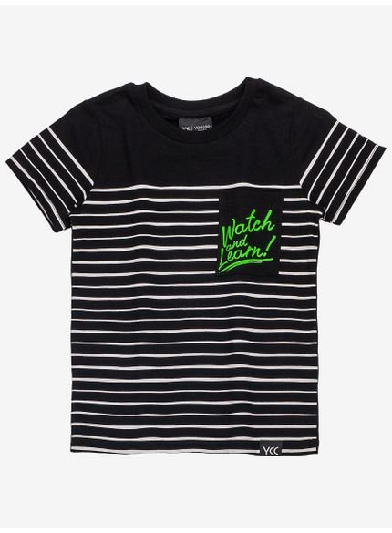 camiseta listrada preta infantil menino com bolso still copia