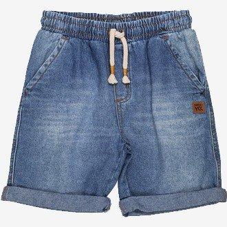 bermuda jeans infantil masculino lavagem media