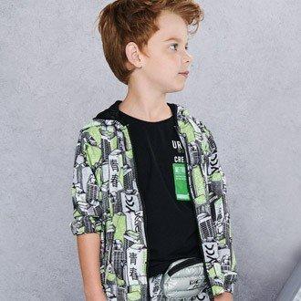 jaqueta corta vento infantil estampada predios youccie