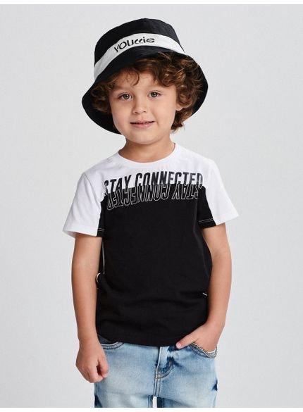 camiseta preta infantil connected i0038 look