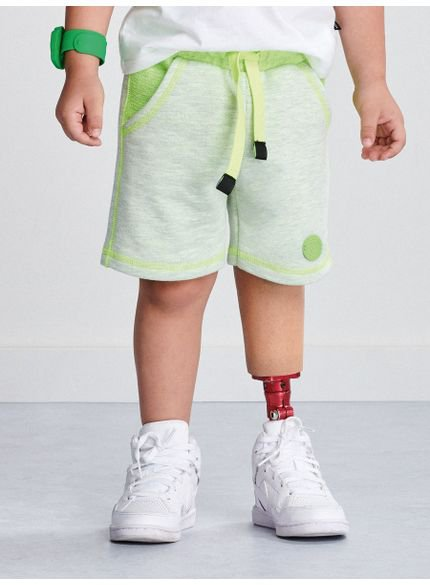 bermuda infantil moletom neon masculino i0058 look
