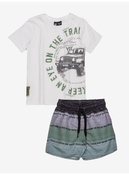 conjunto infantil masculino trail manga curta i0221