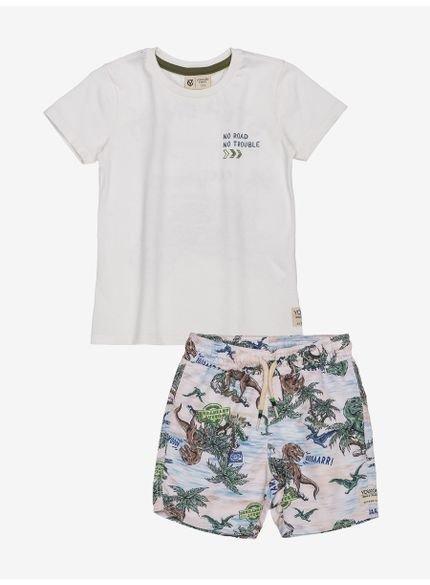 conjunto infantil masculino dinossauro i0224