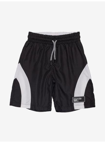 short esportivo preto infantil masculino youccie d0106 still