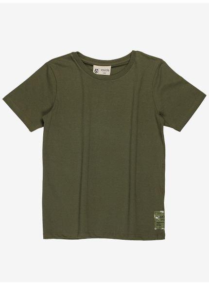 camiseta infantil basica verde militar masculino youccie d0164