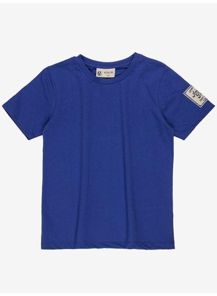camiseta infantil basica azul masculino youccie d0170