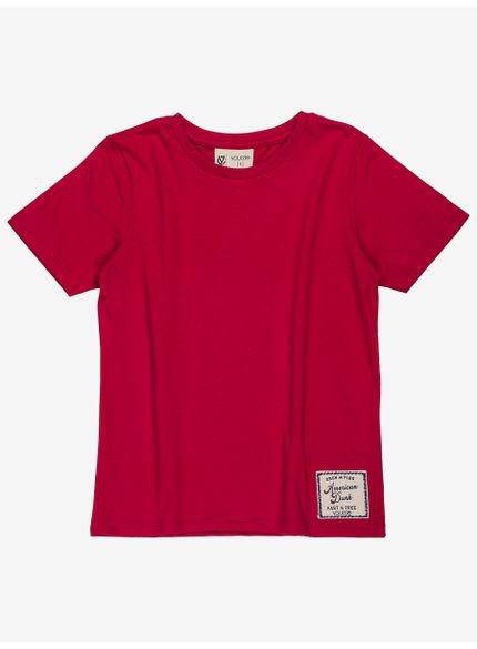 camiseta infantil basica vermelha infantil masculino d0168