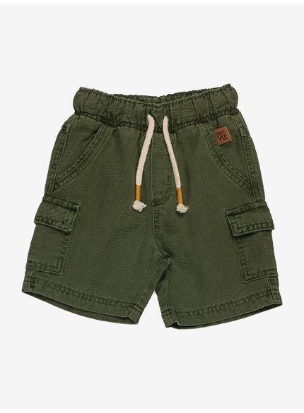 bermuda infantil verde militar com cadarco i0118 look
