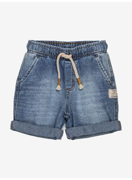 bermuda infantil jeans com cadarco youccie still