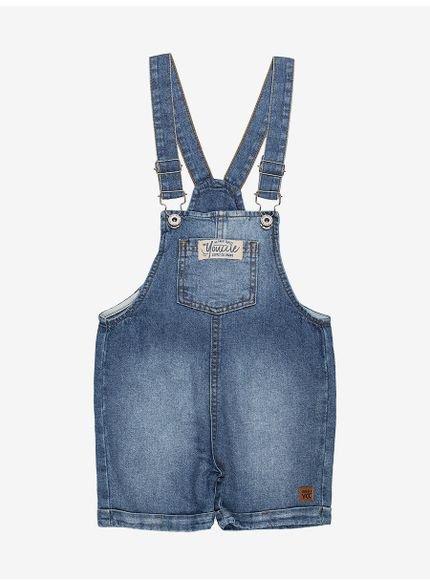 jardineira infantil jeans masculino youccie i0062