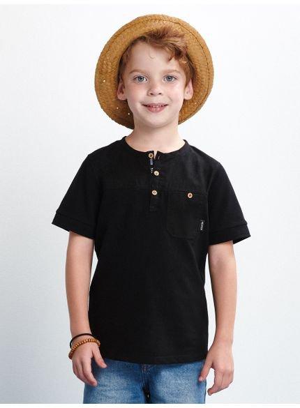 camiseta preta infantil bolso youccie