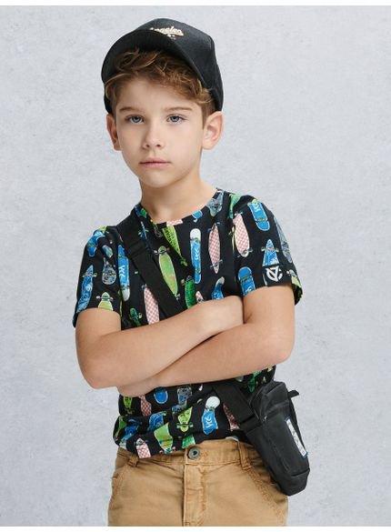 camiseta infantil masculina skate