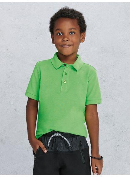 polo infantil masculina verde look