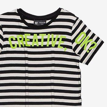camiseta infantil masculina listrada neon d0029