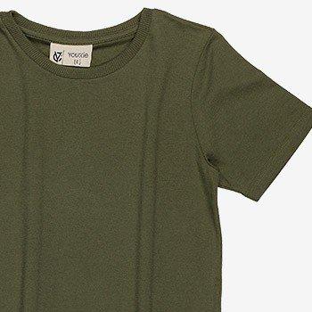 camiseta infantil basica verde militar d0164