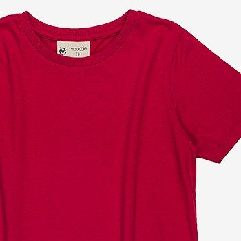 camiseta basica vermelha infantil masculino youccie d0168