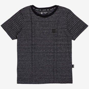 camiseta infantil masculina listrada preta d0049