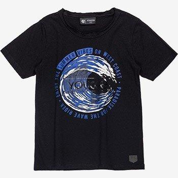 camiseta infantil masculina preta estampada d0059