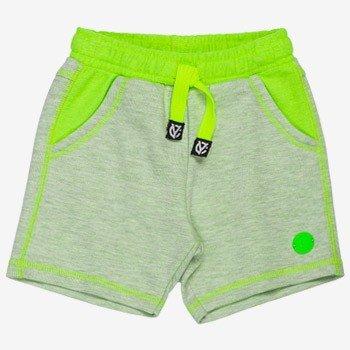 bermuda infantil verde neon de moletom i0058