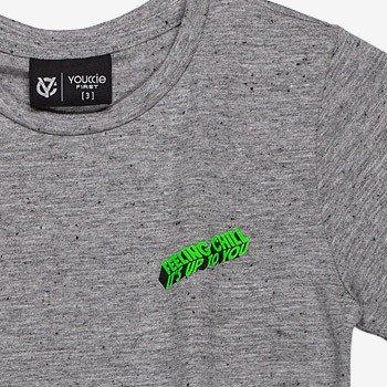 camiseta infantil mescla estampa verde neon i0026