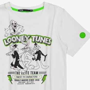 camiseta infantil looney tunes branca d0296