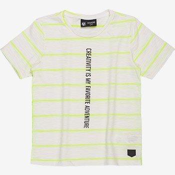 camiseta infantil listrada neon d0198