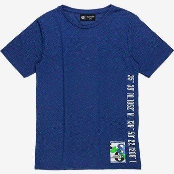 camiseta infantil azul de malha youccie d0058