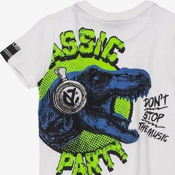 camiseta infantil dinossauro branca masculina estampa costa