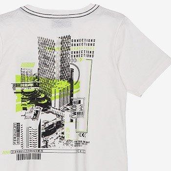 camiseta infantil masculina estampa costa predios yoccie d0062 detalhes