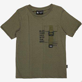 camiseta infantil verde militar masculina d0163