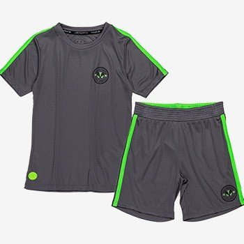 conjunto infantil sport masculino cinza e verde neon d0216