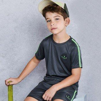 conjunto infantil esportivo cinza com neon d0216