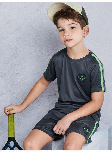 conjunto infantil esportivo cinza com neon d0216 look