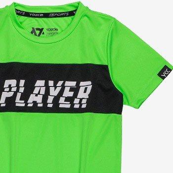 camiseta infantil esportiva verde neon youccie d0117 tecido dry
