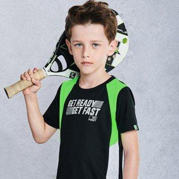 conjunto infantil esportivo preto e neon masculino d0221
