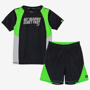 conjunto infantil esportivo preto e neon masculino d0221 completo