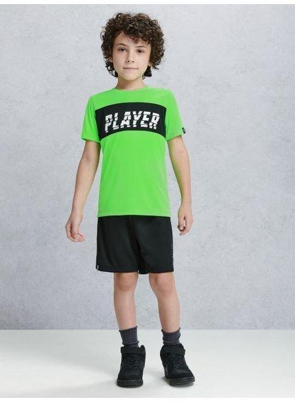 camiseta infantil esportiva verde neon youccie d0117 look